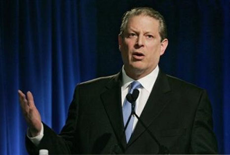 Al Gore, stupid head