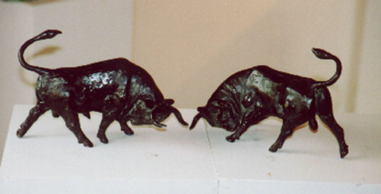 Spanish Bull Spanish Bull And Charging Bull